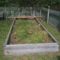 Raised bed after winter